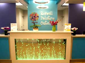 Reception desk at Roswell Pediatric Center